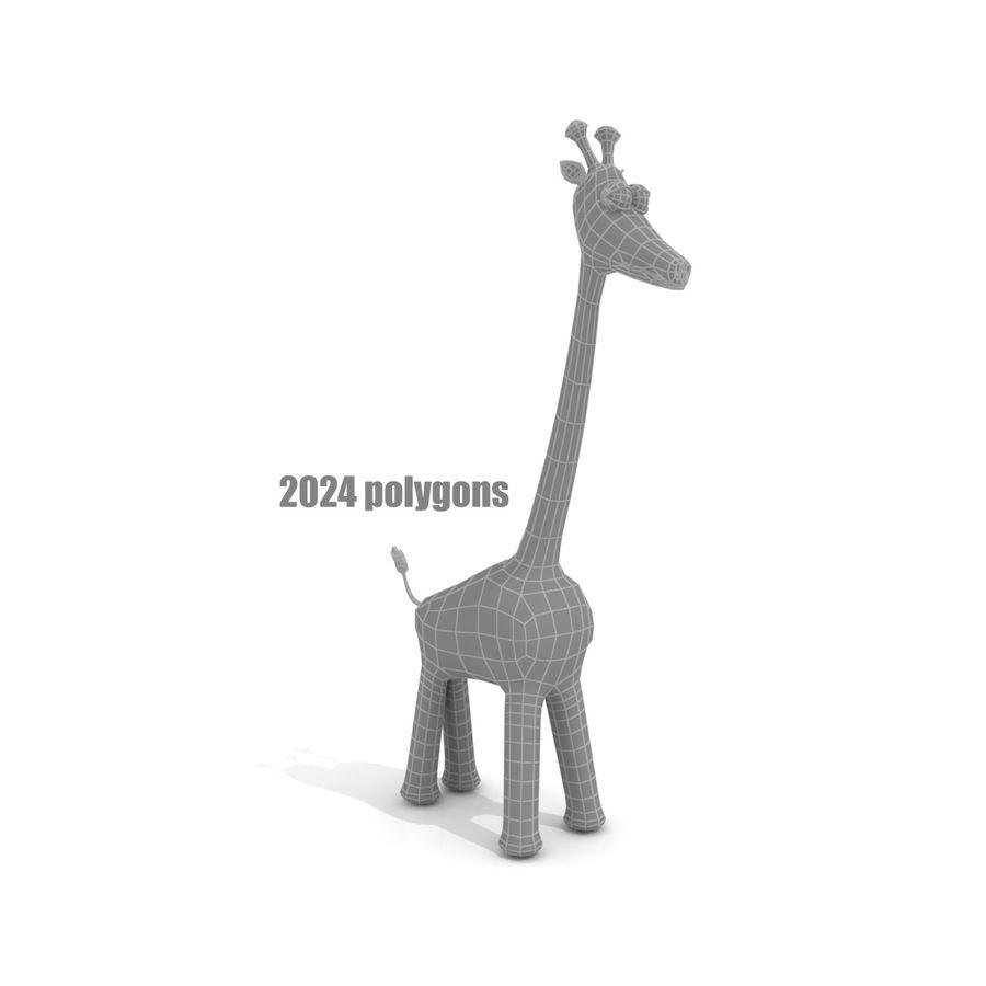 Cartoon Giraffe - RIGGED royalty-free 3d model - Preview no. 4