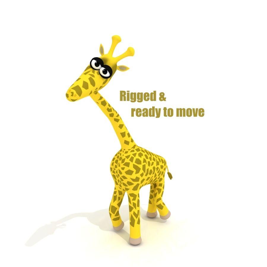 Cartoon Giraffe - RIGGED royalty-free 3d model - Preview no. 7