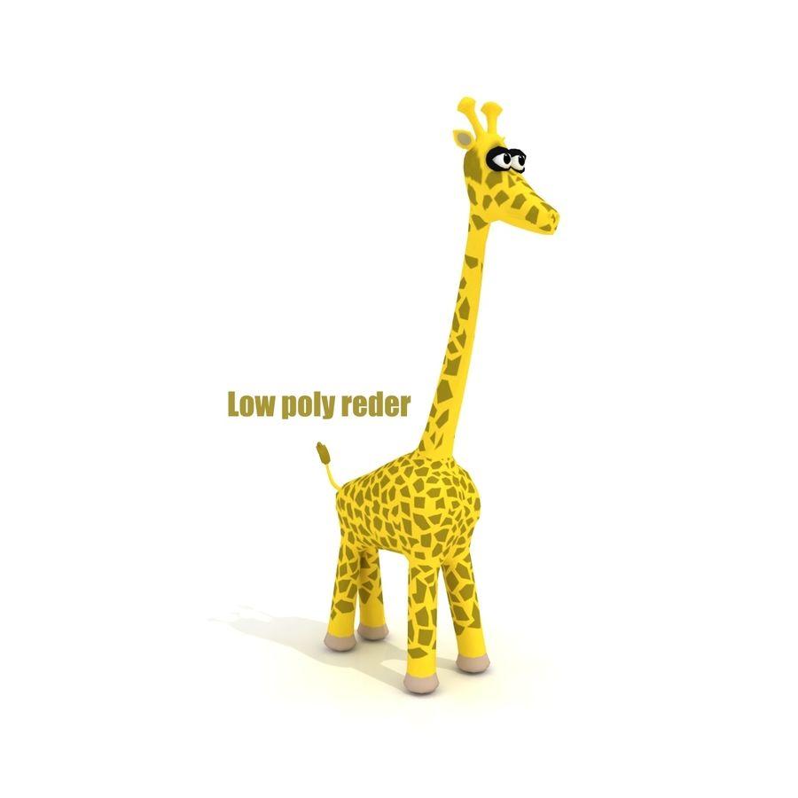 Cartoon Giraffe - RIGGED royalty-free 3d model - Preview no. 5