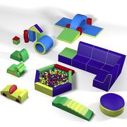 modern contemporary kid children play room little ones  toys toy fun zoo furniture playground 3d model