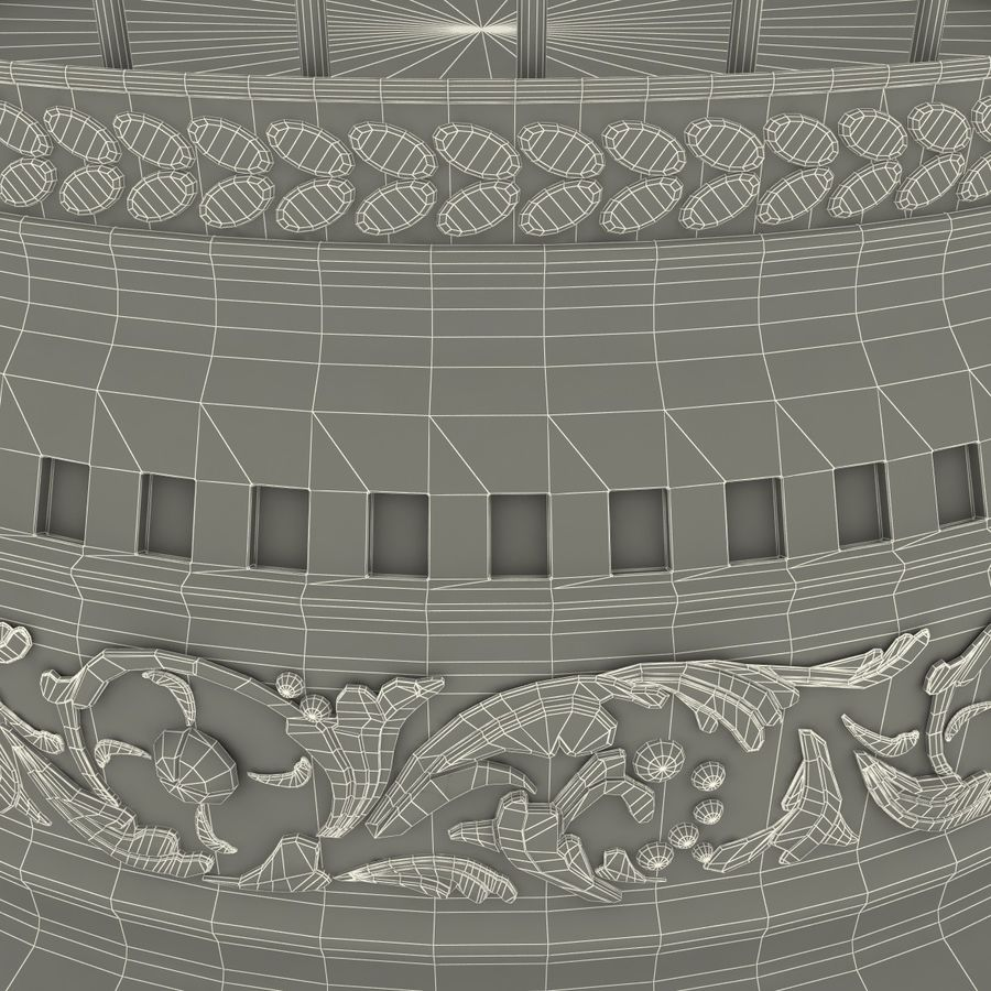 Old Bird Cage royalty-free 3d model - Preview no. 12