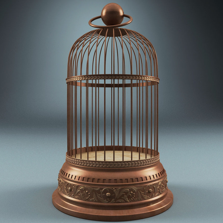 Old Bird Cage royalty-free 3d model - Preview no. 2