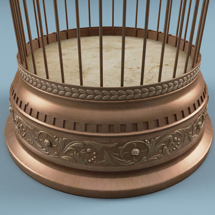 Old Bird Cage royalty-free 3d model - Preview no. 5