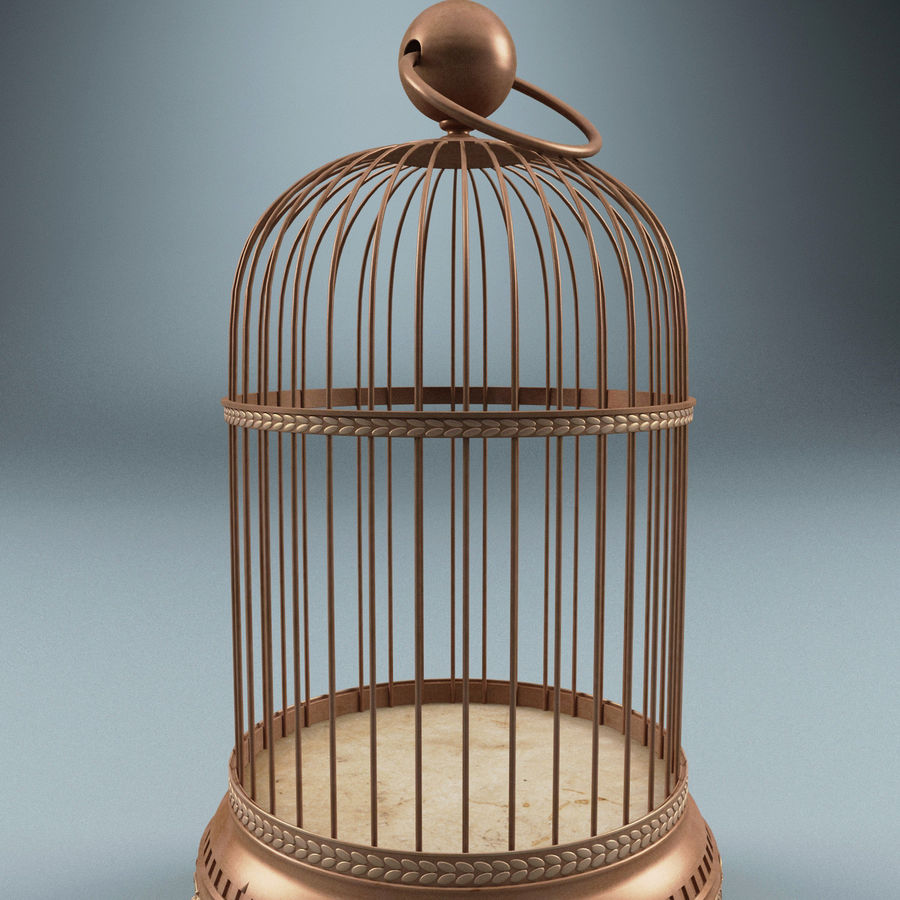 Old Bird Cage royalty-free 3d model - Preview no. 4