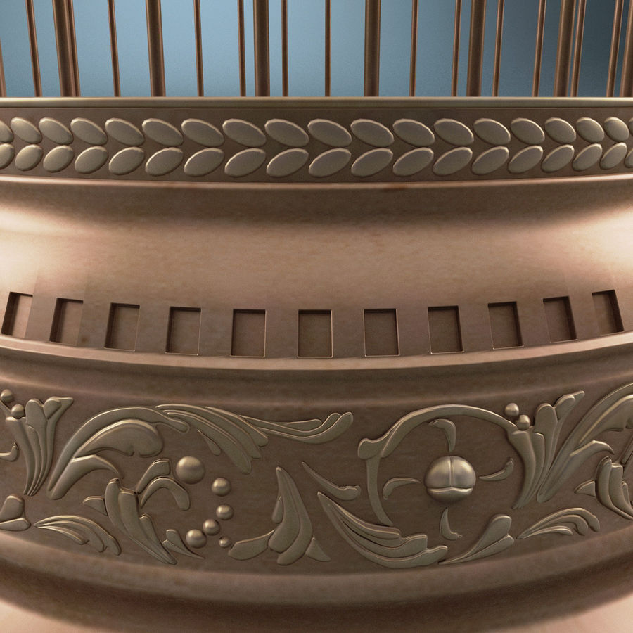 Old Bird Cage royalty-free 3d model - Preview no. 6