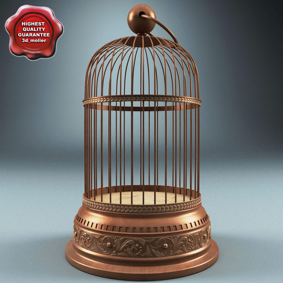 Old Bird Cage royalty-free 3d model - Preview no. 1