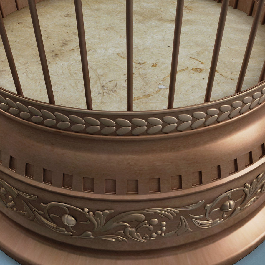Old Bird Cage royalty-free 3d model - Preview no. 7