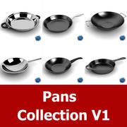 Pans Collection 1 3d model