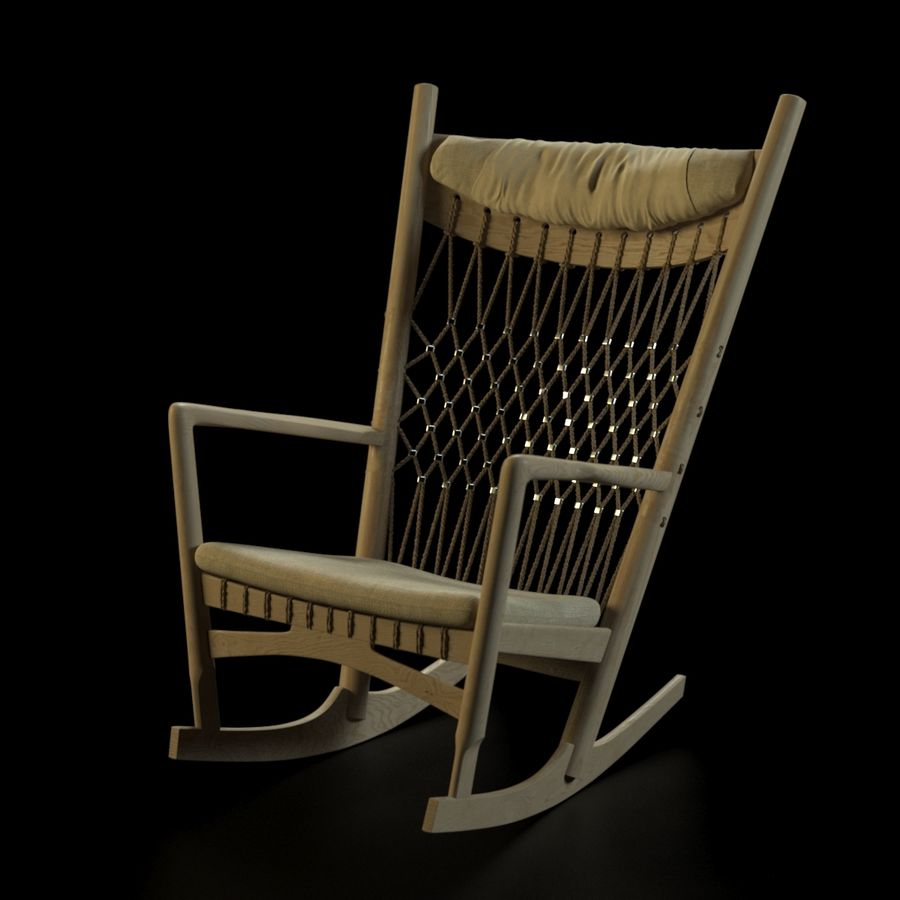 Hans Wegner PP124椅子 royalty-free 3d model - Preview no. 2
