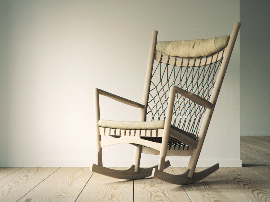Hans Wegner PP124椅子 royalty-free 3d model - Preview no. 1