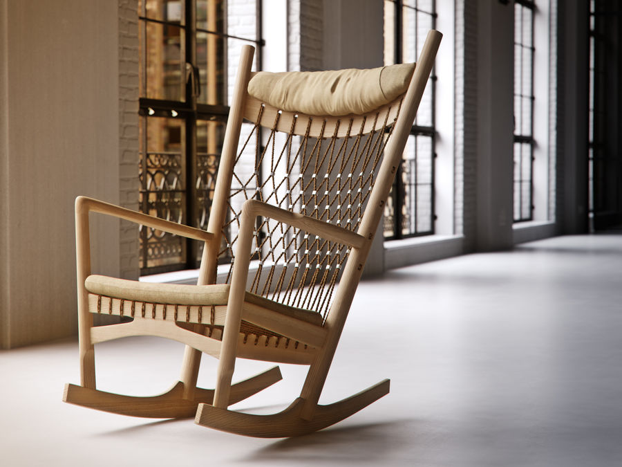 Hans Wegner PP124椅子 royalty-free 3d model - Preview no. 6