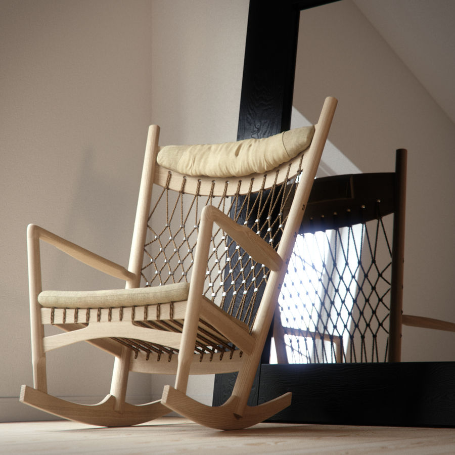 Hans Wegner PP124椅子 royalty-free 3d model - Preview no. 8