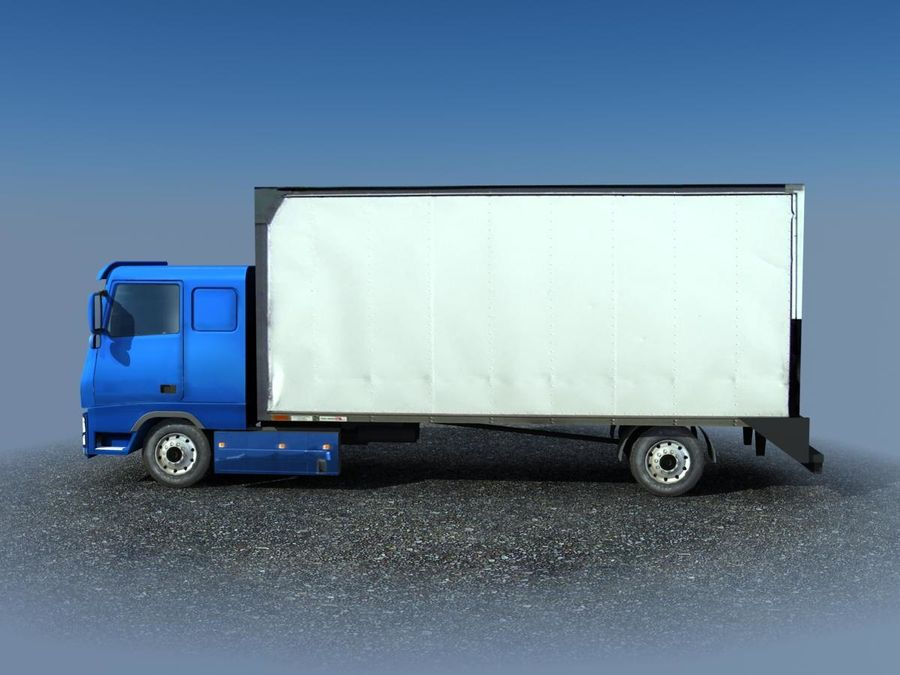 Big Cargo blue Truck royalty-free 3d model - Preview no. 3