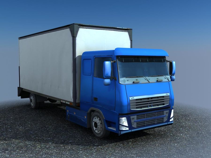 Big Cargo blue Truck royalty-free 3d model - Preview no. 1