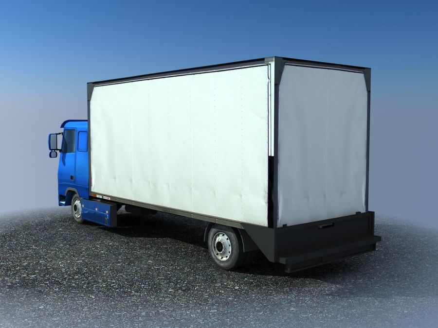 Big Cargo blue Truck royalty-free 3d model - Preview no. 2
