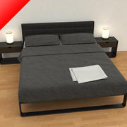Bed 02 - Contemporary 3d model