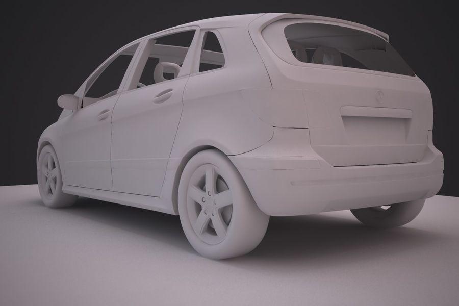 Mercedes Benz B Class royalty-free 3d model - Preview no. 12