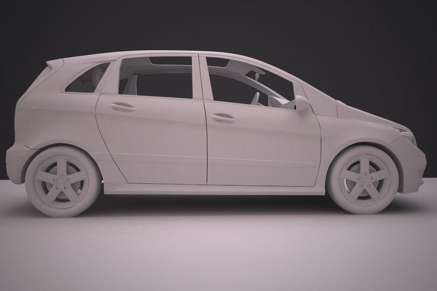 Mercedes Benz B Class royalty-free 3d model - Preview no. 15