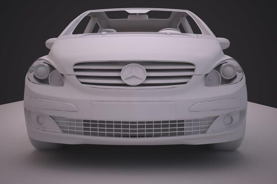 Mercedes Benz B Class royalty-free 3d model - Preview no. 17