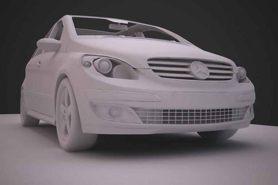 Mercedes Benz B Class royalty-free 3d model - Preview no. 16