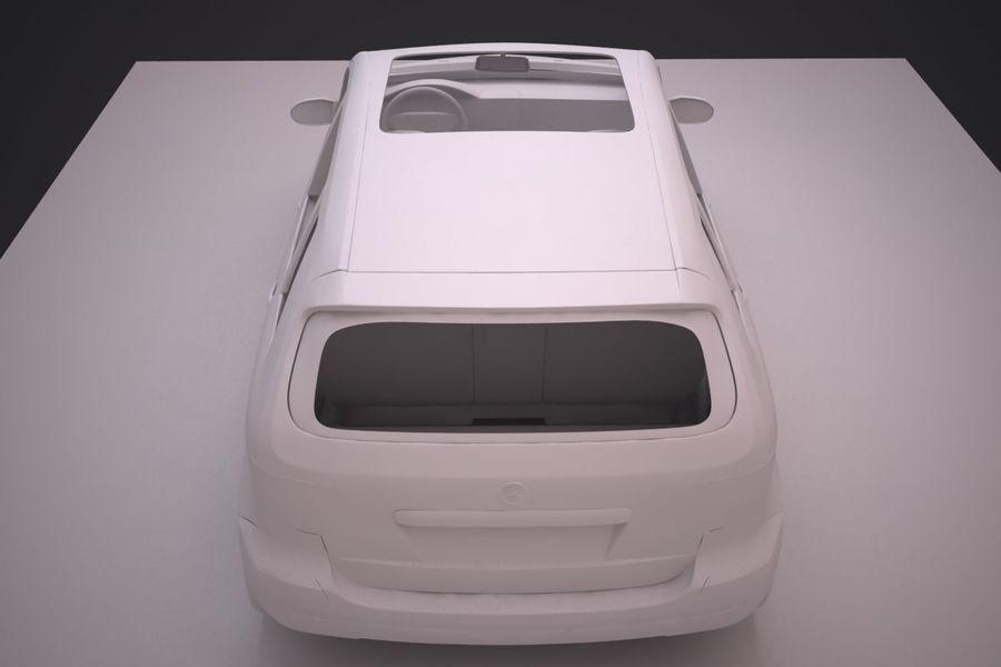 Mercedes Benz B Class royalty-free 3d model - Preview no. 19