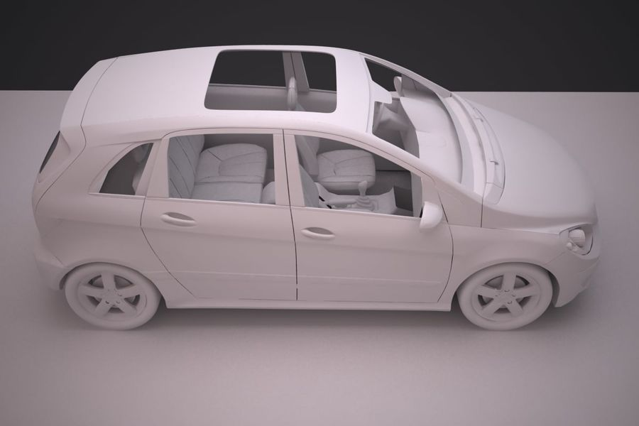 Mercedes Benz B Class royalty-free 3d model - Preview no. 20
