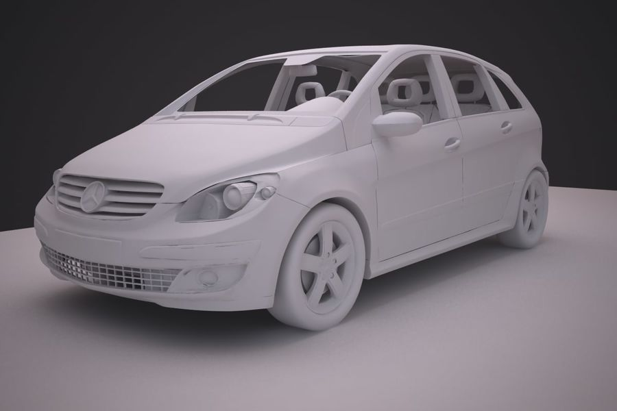 Mercedes Benz B Class royalty-free 3d model - Preview no. 11