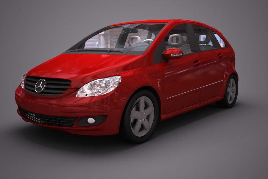 Mercedes Benz B Class royalty-free 3d model - Preview no. 1