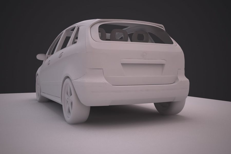 Mercedes Benz B Class royalty-free 3d model - Preview no. 13