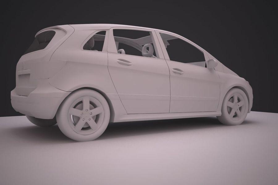 Mercedes Benz B Class royalty-free 3d model - Preview no. 14