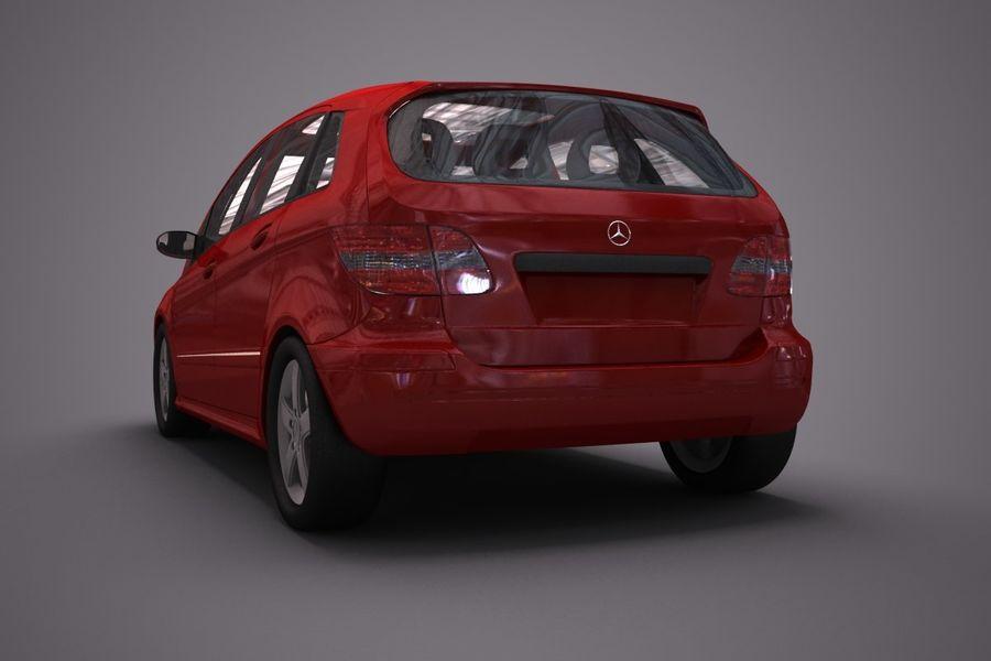 Mercedes Benz B Class royalty-free 3d model - Preview no. 3