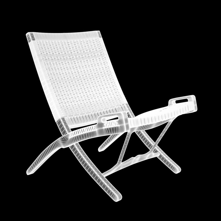Scandinavian Easy Chair royalty-free 3d model - Preview no. 8