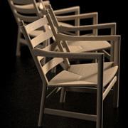 Krzesło Hans Wegner CH44 3d model
