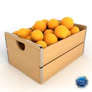Pomarańczowa skrzynia 3d model