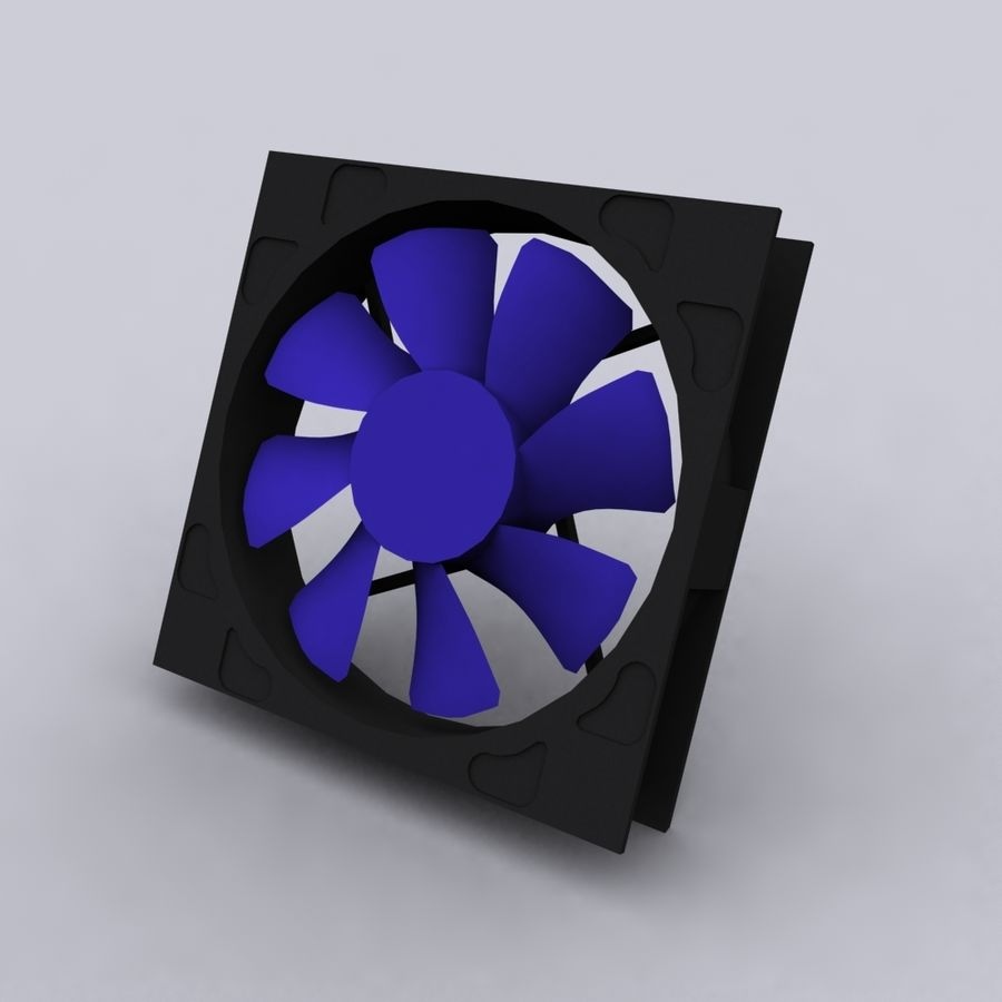 120MM Computer Fan royalty-free 3d model - Preview no. 3