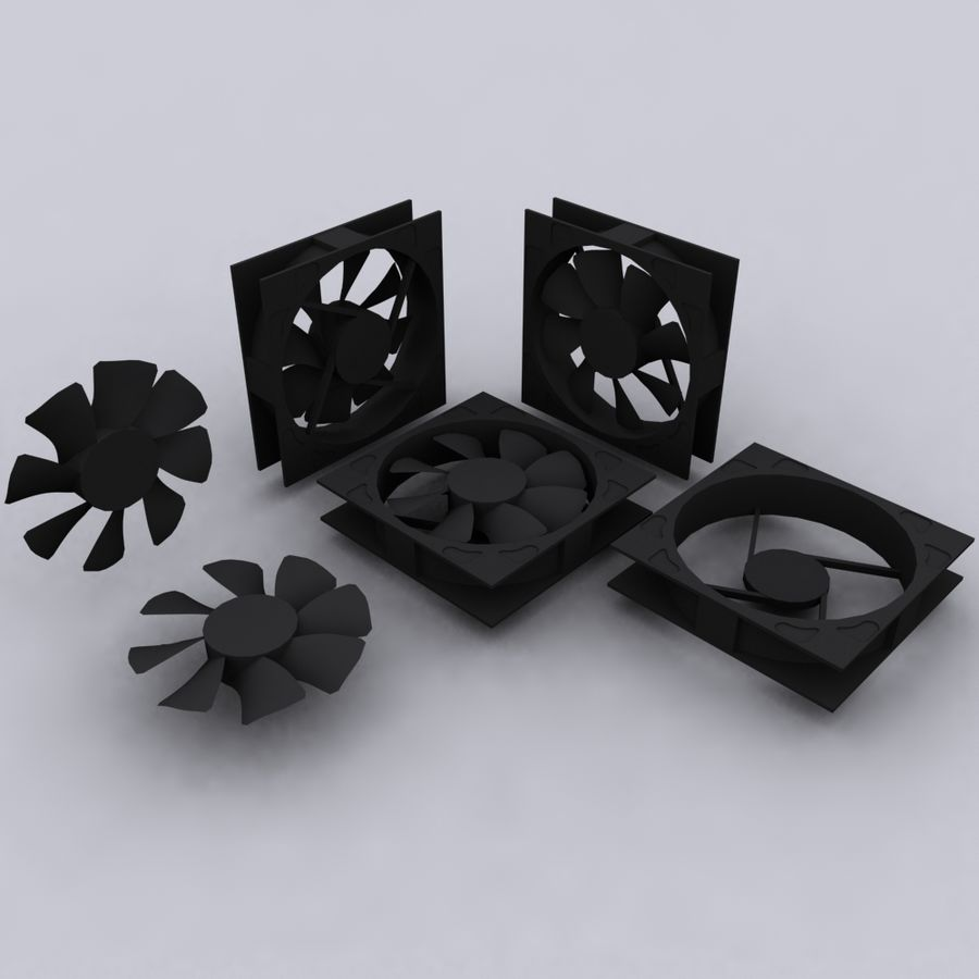 120MM Computer Fan royalty-free 3d model - Preview no. 1