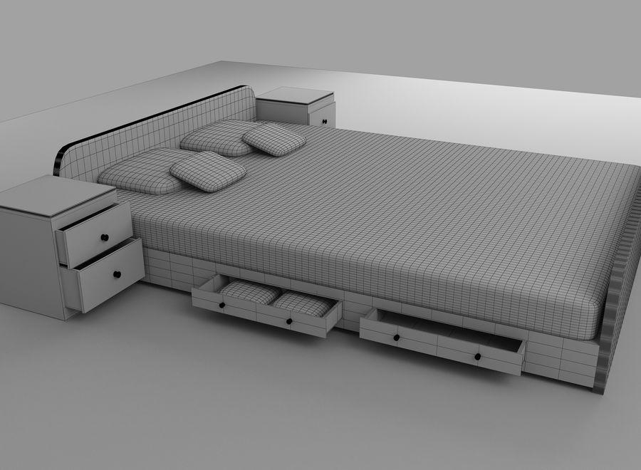 寝室の家具 royalty-free 3d model - Preview no. 6