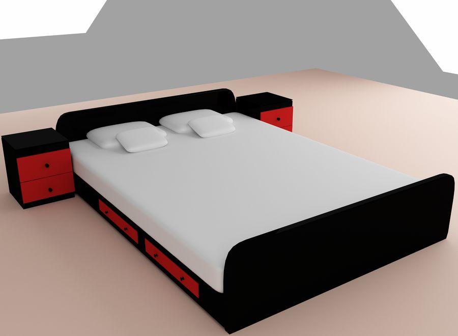 寝室の家具 royalty-free 3d model - Preview no. 1