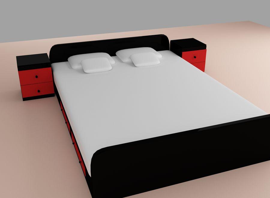 寝室の家具 royalty-free 3d model - Preview no. 2