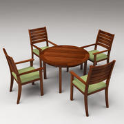 Eettafel set 3d model