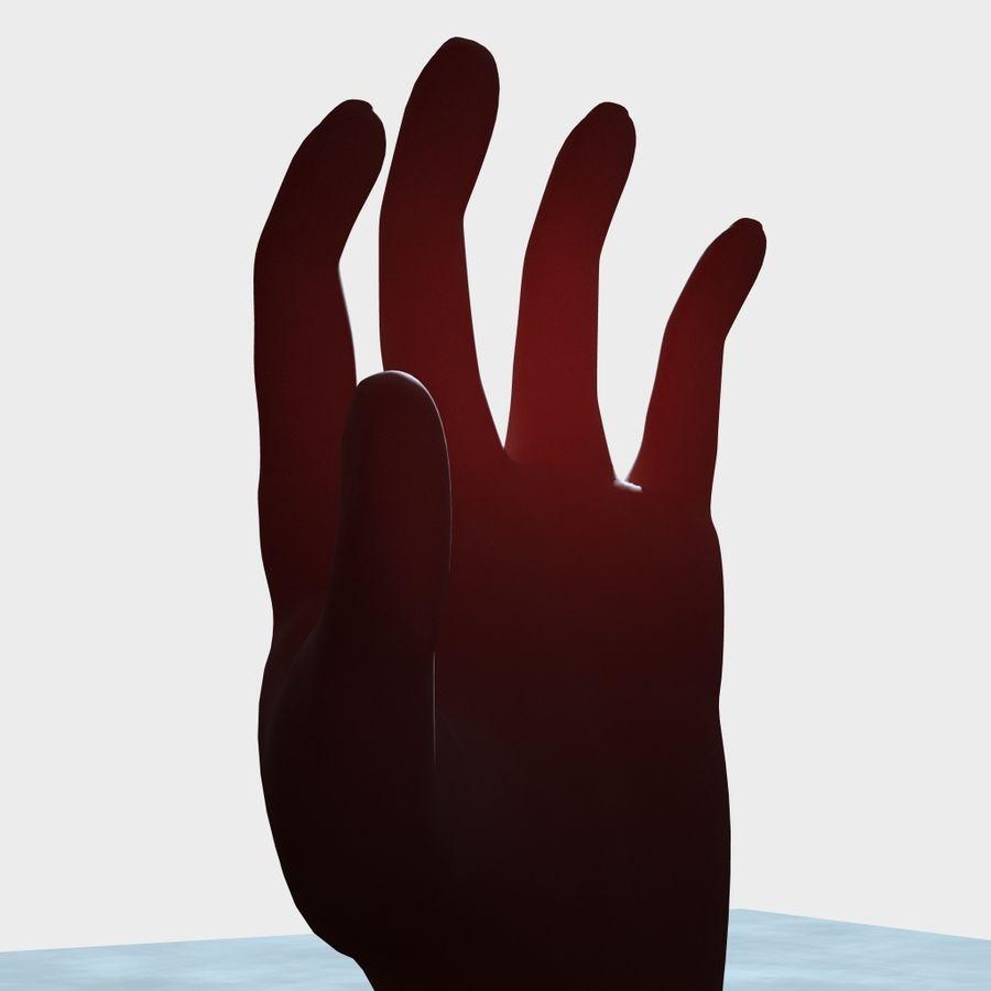 Menselijke hand royalty-free 3d model - Preview no. 4