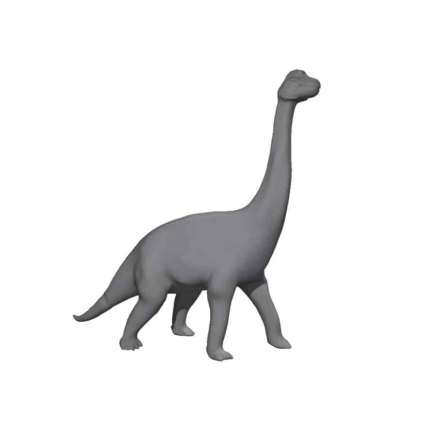 Brachiosauras (1) royalty-free modelo 3d - Preview no. 8