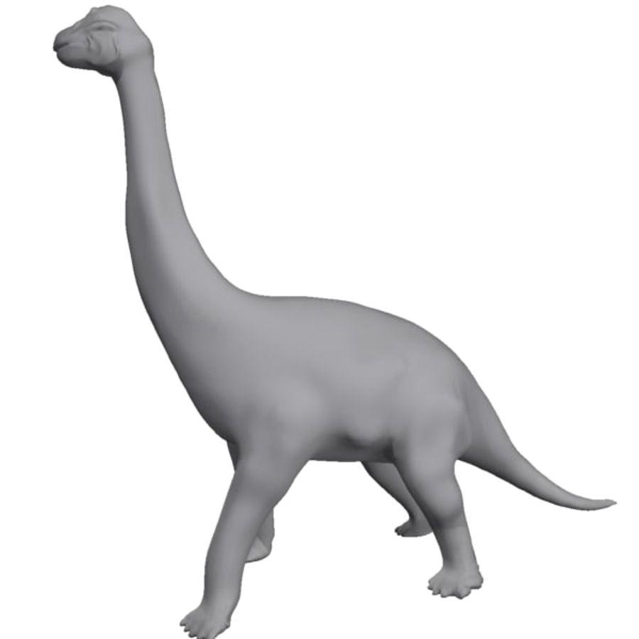 Brachiosauras (1) royalty-free modelo 3d - Preview no. 6