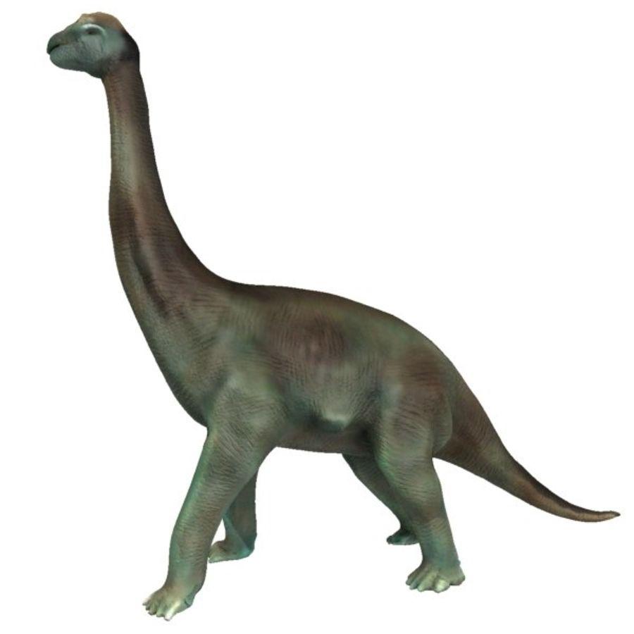 Brachiosauras (1) royalty-free modelo 3d - Preview no. 2