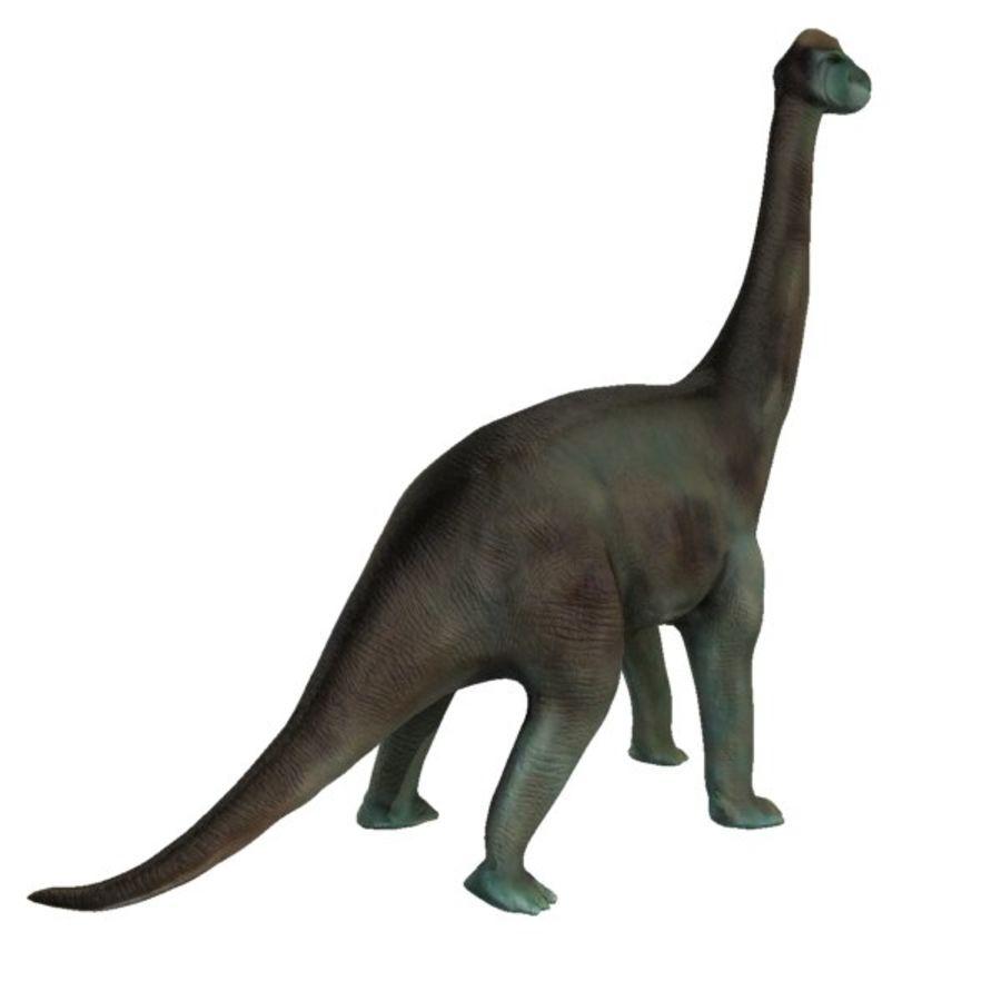 Brachiosauras (1) royalty-free modelo 3d - Preview no. 4