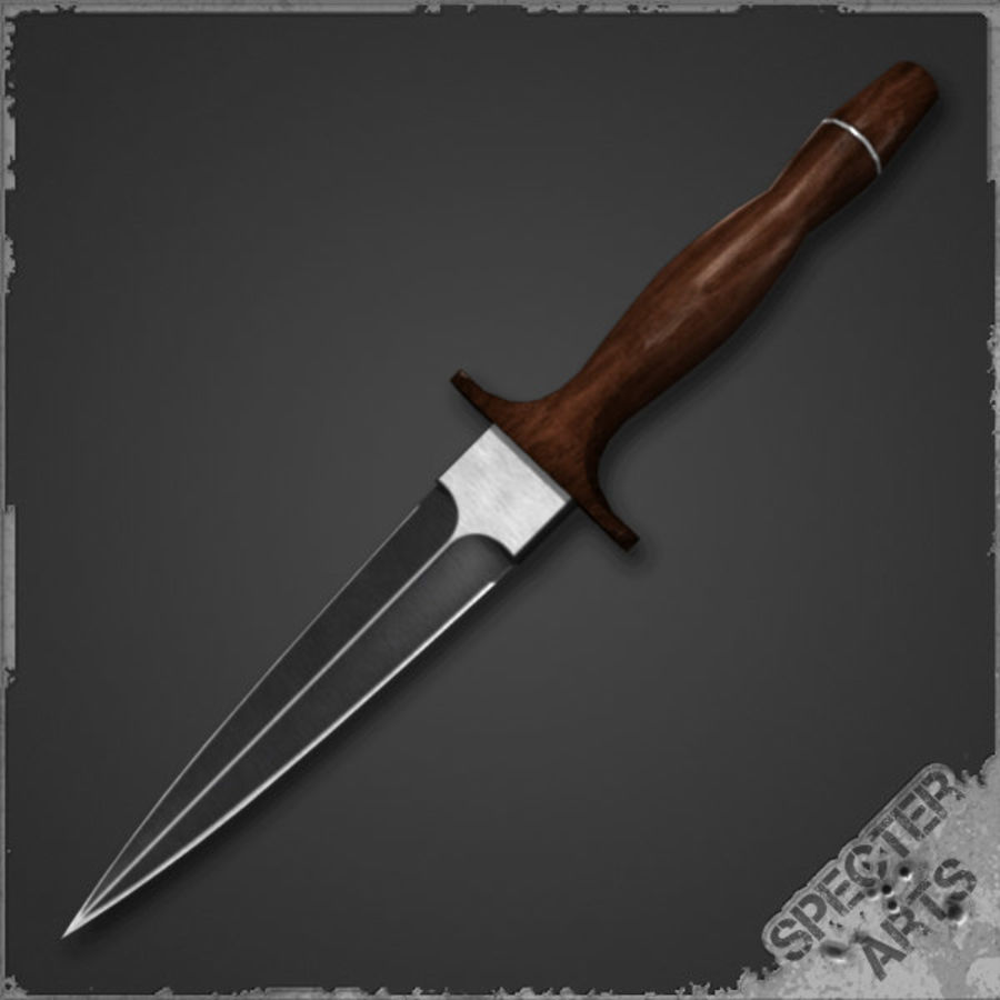 Spear point dagger royalty-free 3d model - Preview no. 1