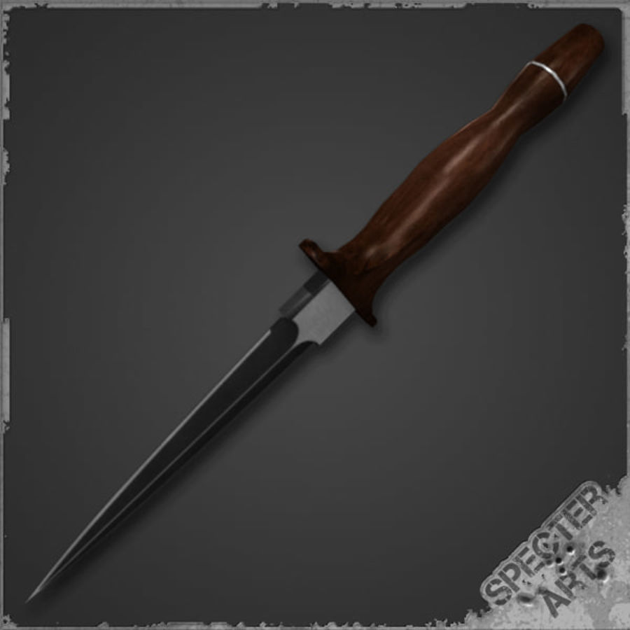 Spear point dagger royalty-free 3d model - Preview no. 2
