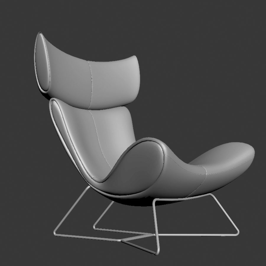 Poltrona BoConcept Imola royalty-free 3d model - Preview no. 2