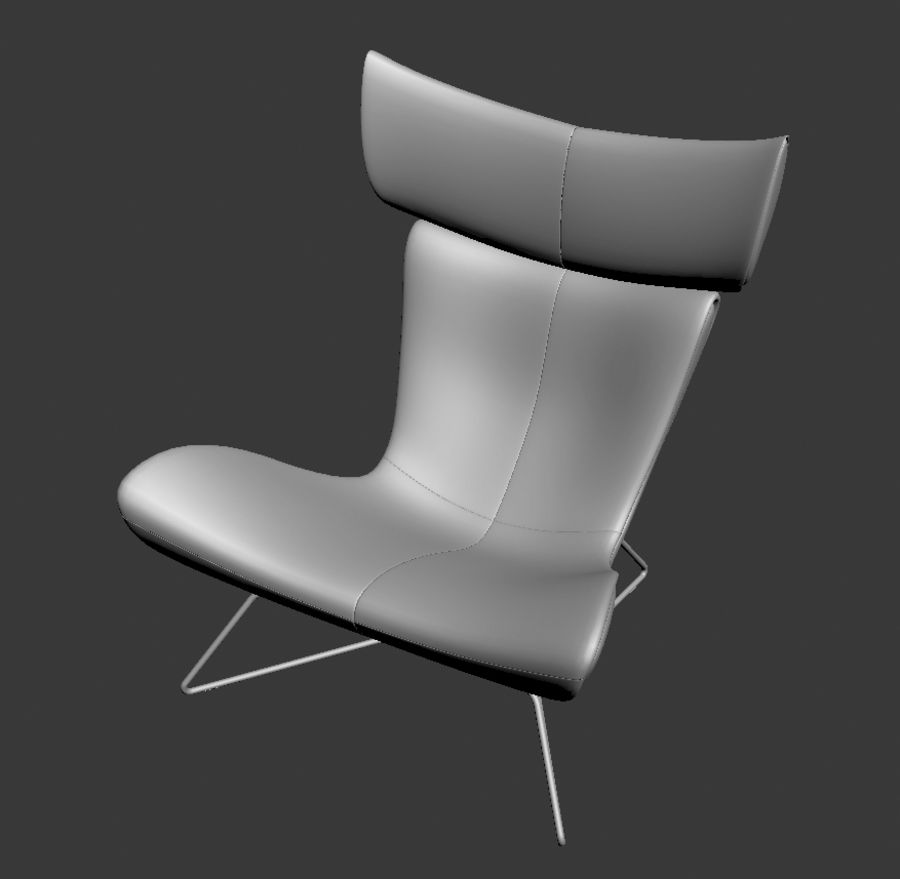 Poltrona BoConcept Imola royalty-free 3d model - Preview no. 3