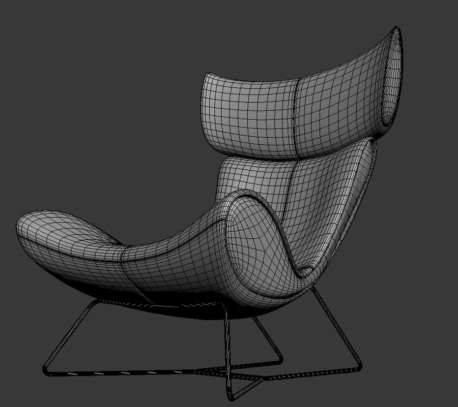 Poltrona BoConcept Imola royalty-free 3d model - Preview no. 5